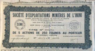 societe-exploitation-minieres-mines-inini-2500-francs-5-actions-detail
