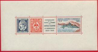 bloc-nouvelle-caledonie-centenaire-poste-tmbre-1859-1959