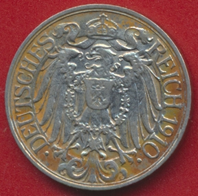 allemagne-25-pfennig-1910-g-vs