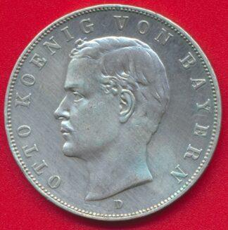 allemagne-baviere-3-drei-mark-1912-otto-vs