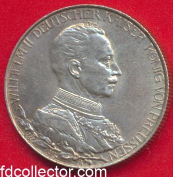 allemagne-prusse-3-drei-mark-1913