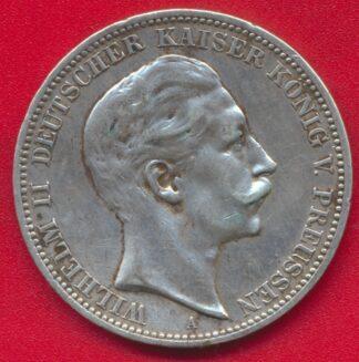 allemagne-prusse-drei-mark-3-1910-wilhelm-guillaume