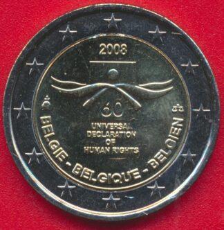 2-euro-belgique-soixantenaire-declaration-droits-homme-2008