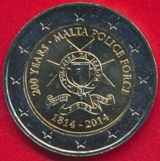 2-euro-malte-200-ans-police-force-2014