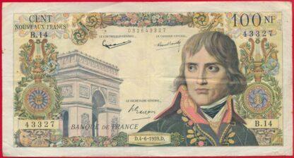 100-nouveaux-francs-bonaparte-napoleon-4-6-1959-3327