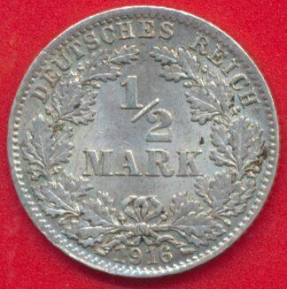 allemagne-demi-mark-1916-d