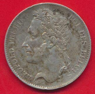 belgique-5-francs-1849-leopold-premier-vs
