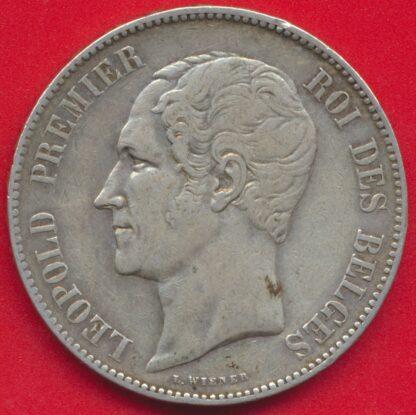belgique-5-francs-1850-leopold-premier-vs