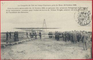 cpa-conquete-air-auvours-lemans-1908-wilbur-wright--achat-brevet