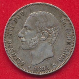 espagne-2-pesetas-1882-alphonse-xii