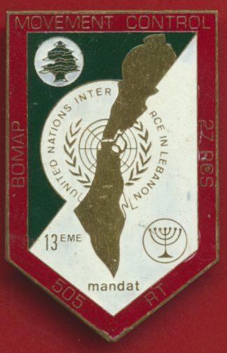 insigne-beyrouth-observateur-france-onu-movement-control-13-mandat-505-rt-bomap-27-rcs