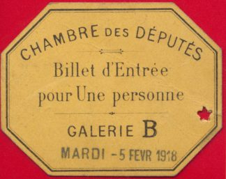 ticket-entree-chambre-depute-1918
