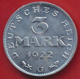 allemagne-3-mark-1922-g