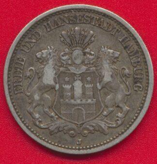 allemagne-hambourg-2-zwei-mark-1876