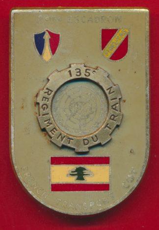 insigne-beyrouth-observateur-france-onu-135-regiment-train-french-transport-coy-2eme-escadron