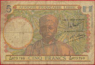 afrique-francaise-libre-cinq-5-francs-5790