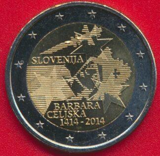 slovenie-2-euro-barbara-celiska-2014