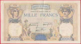 1000-francs-ceres-mercure-21-septembre-1939
