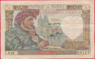 50-francs-jacques-coeur-26-9-1940-9171