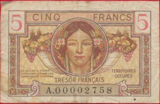 5-francs-territoires-occupes-tresor-francais-2758