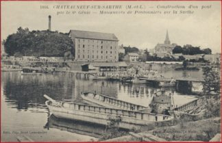 cpa-chateauneuf-sur-sarthe-construction-pont-6-genie-manoeuvre-pontonniers