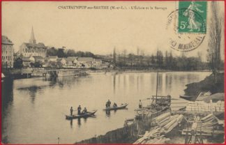 cpa-chateauneuf-sur-sarthe-ecluse-barrage