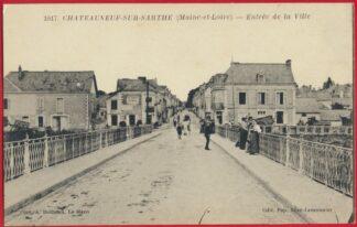 cpa-chateauneuf-sur-sarthe-entree-ville