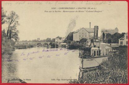 cpa-chateauneuf-sur-sarthe-remorqueur-genie-colonel-denfert