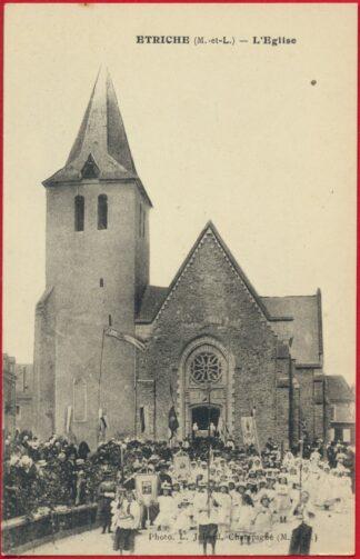cpa-etriche-eglise-procession