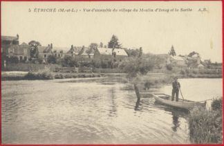 cpa-etriche-vue-ensemble-village-moulin-ivray-sarthe