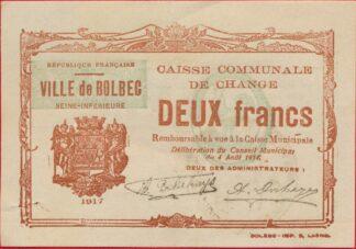 bolbec-caisse-communale-deux-2-francs-1914