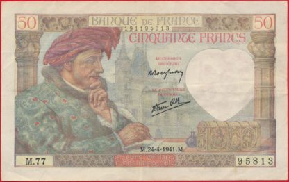 50-francs-jacques-coeur-24-4-1941-5813