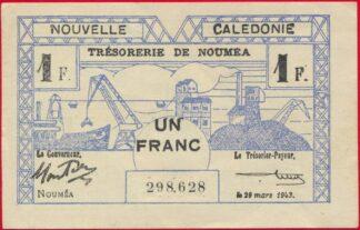 nouvelle-caledonie-un-franc-1943-8628-tresorerie-noumea