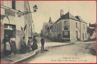 cpa-etriche-rue-eglise-nationale