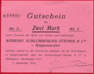alsace-lorraine-elsas-lothringen-2-zwei-mark-1914