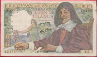 100-francs-descartes-2433-15-5-1942