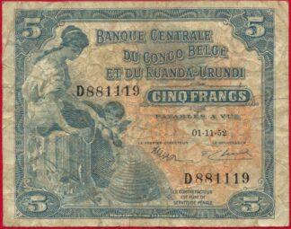 congo-belge-5-francs-cinq-ruanda-urundi-1119