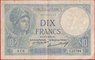 10-francs-minerve-3-9-1926-2418
