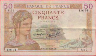 50-francs-ceres-3-11-1938-3653