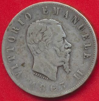 italie-2-lire-1863-bn
